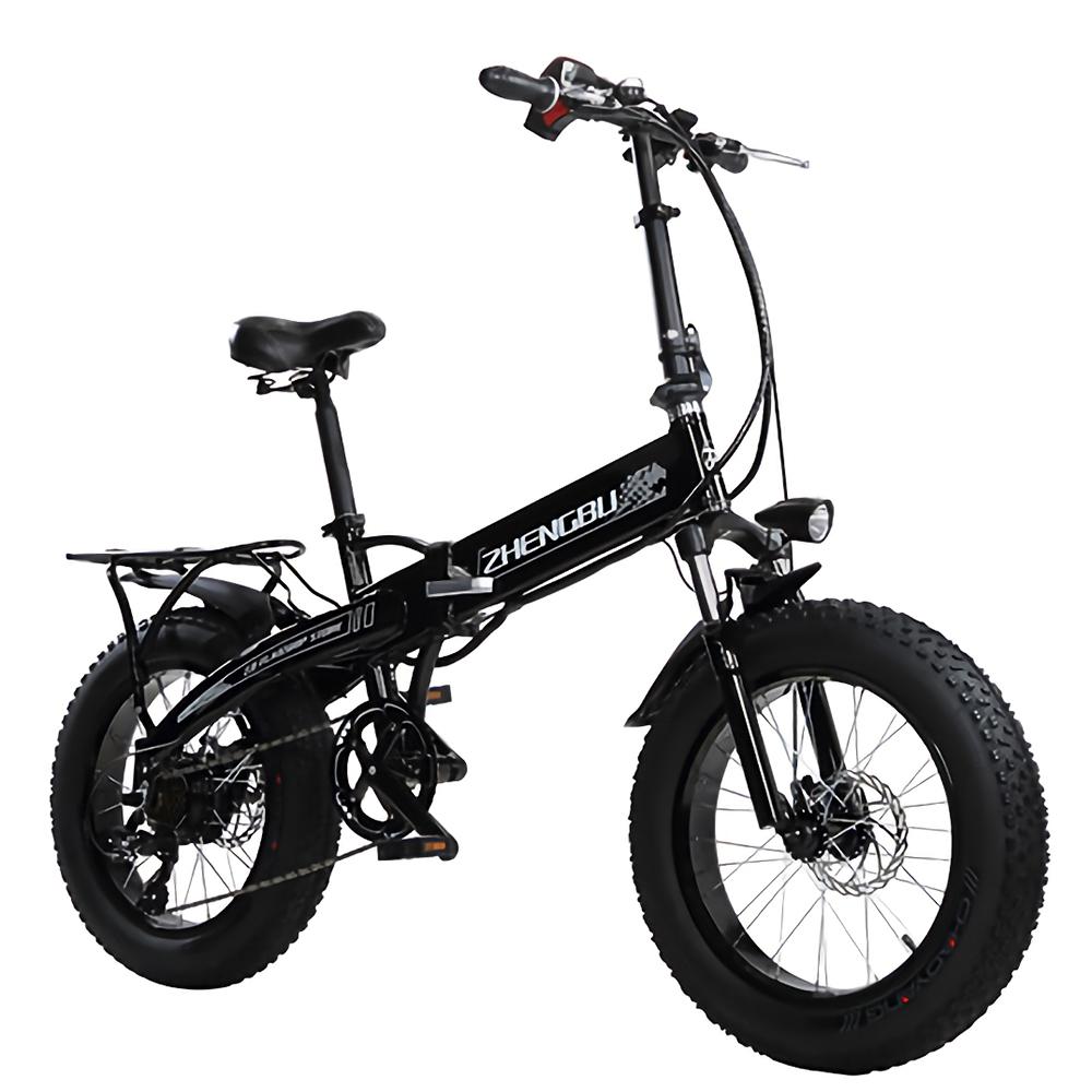 [해외] 접이식 전기 자전거 화이트