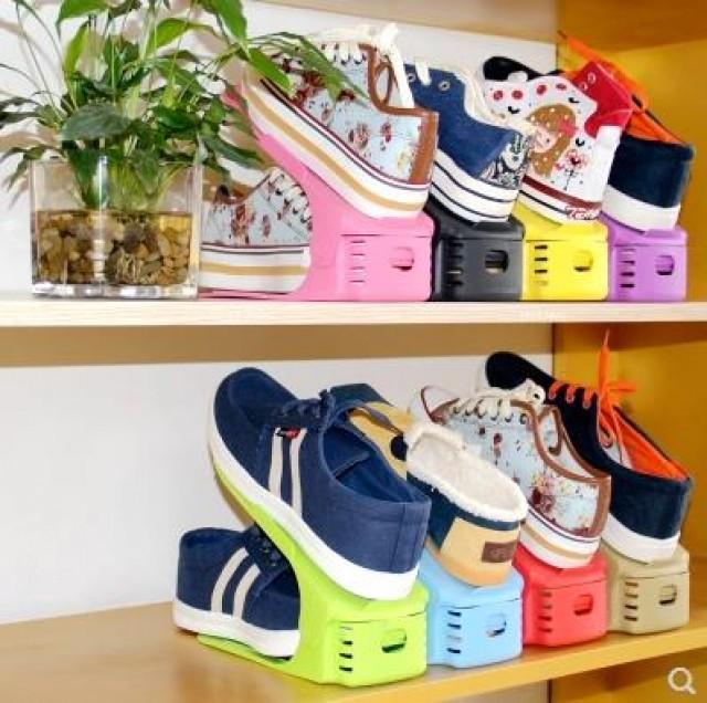 [해외] 히트상품 높이 각도조절 슈즈렉 신발정리대 신발 수납 8가지색상 10개입(2개묶음)