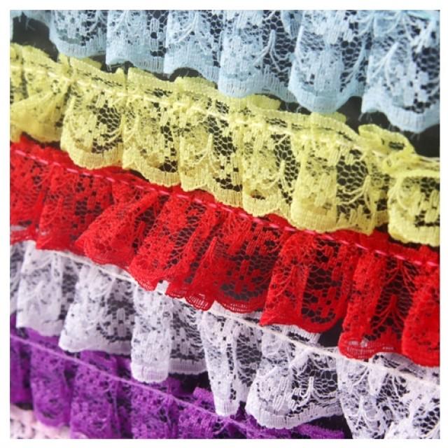 [현재분류명],망사레이스 (2.3cm) 2M 흰색 1개 레이스끈 레이스장식 리본장식,포장용끈,포장용리본용품,만들기재료,공예재료,레이스접착리본