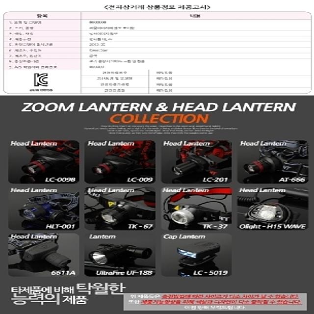 LED 줌 헤드랜턴 LC 009