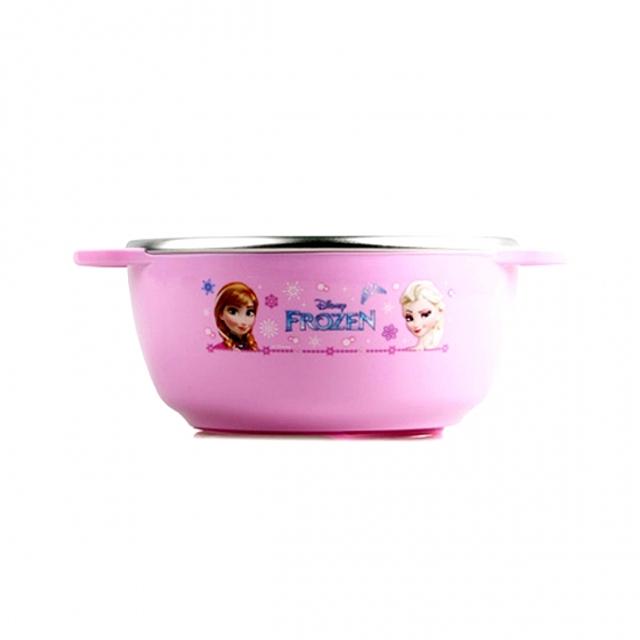(겨울왕국 논슬립 스텐 공기) 어린이그릇 이유식기