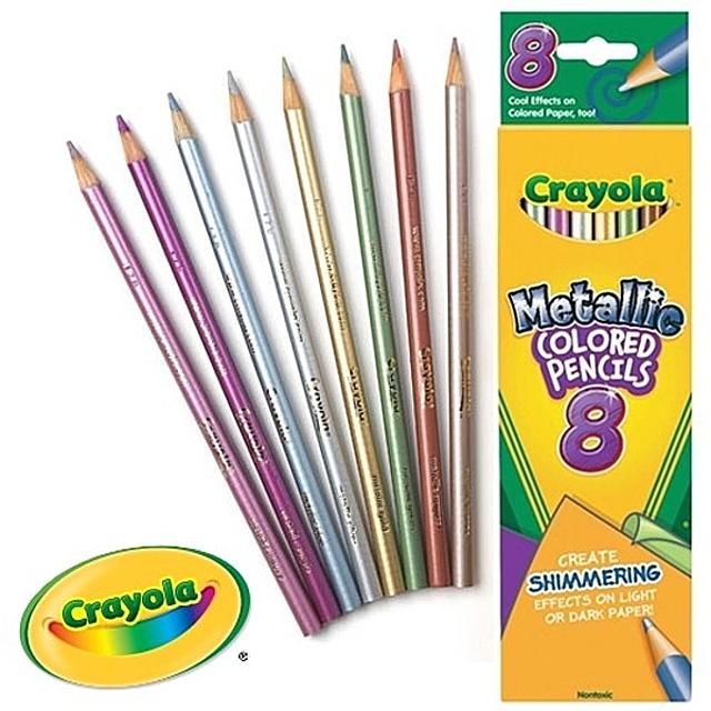 (크레욜라 금속빛 색연필 8색)유아동 전문 미술용품