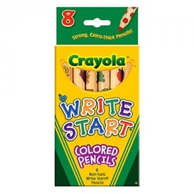 크레욜라 일반색연필 유아용 8색 색연필 유아동 전문 미술용품